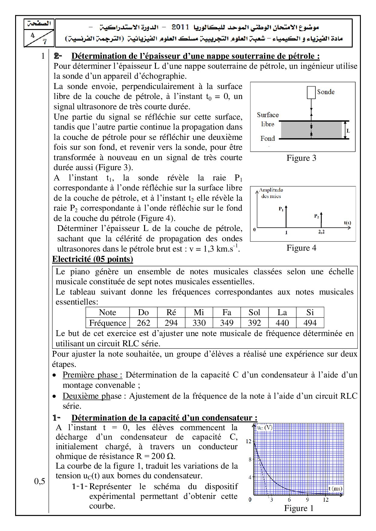 Examen National Physique-Chimie SPC 2011 Rattrapage - Sujet4.jpg